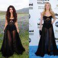 Selena Gomez usa vestido assinado pelo estilista norueguês  Kristian Aadnevik no clipe 'Come & Get It' . Jennifer Morrison usou o mesmo modelito no Billboard Music Awards