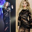 Mariah Carey usou o vestido Roberto Cavalli no World Music Awards 2014. Beyoncé escolheu o modelito para a festa do Super Bowl 2014