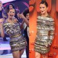 Valesca Popozuda grava o 'Programa da Sabrina' com vestido Balmain avaliado em R$ 76 mil, o mesmo usado por Claudia Leitte na festa 'Vem Aí'