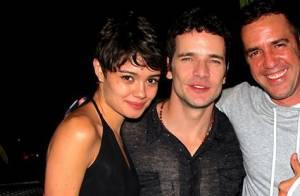 Sophie Charlotte e Daniel de Oliveira vão juntos a evento no Vidigal, no Rio