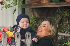 Claudia Leitte mostra vídeo do filho Rafael dançando música tema da Copa