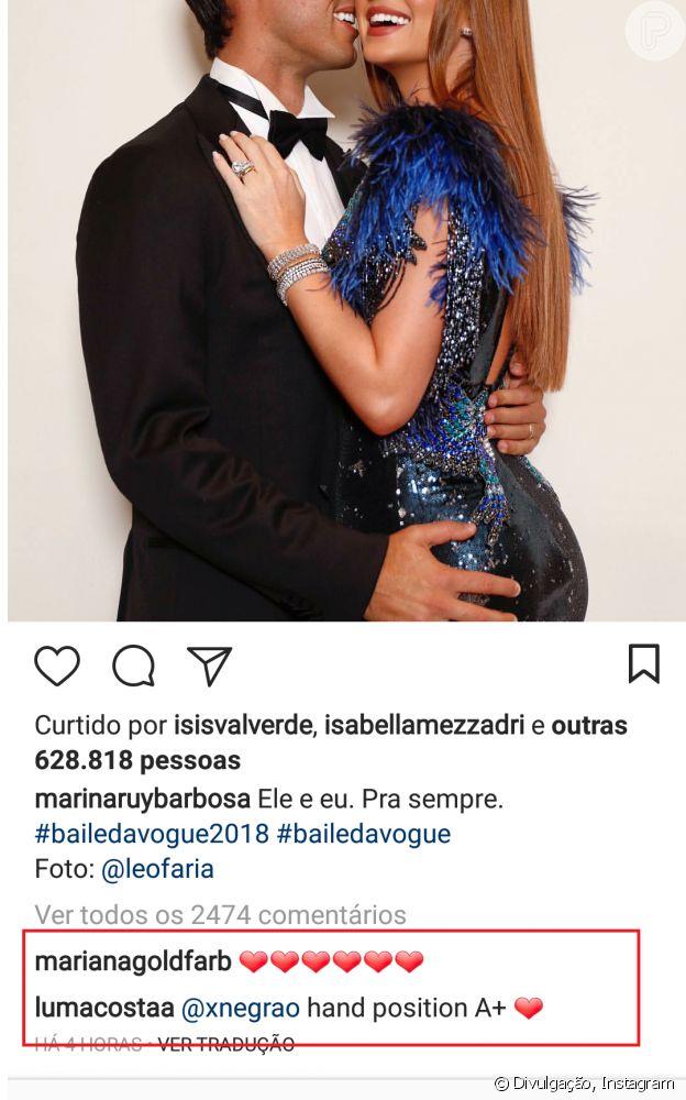 Pose de Marina Ruy Barbosa e marido, Xande Negrão, é elogiada por fãs nesta segunda-feira, dia 02 de fevereiro de 2018