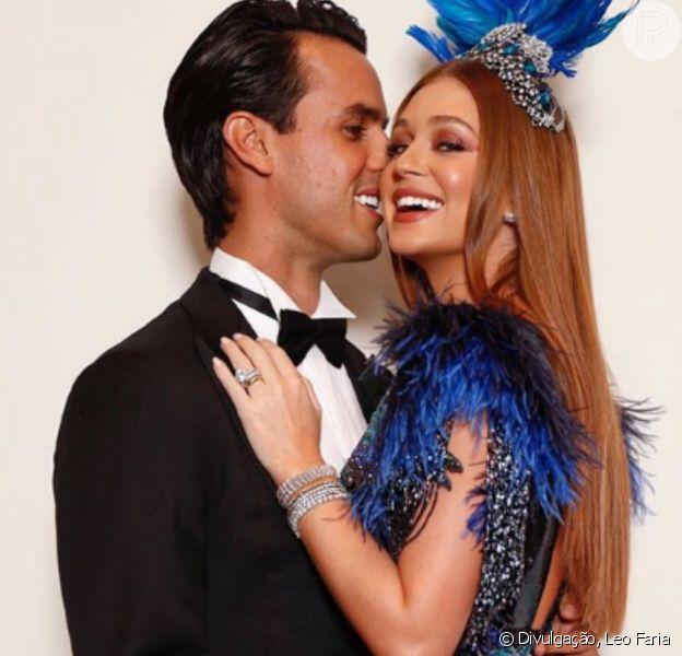 Pose de Marina Ruy Barbosa e marido, Xande Negrão, é elogiada por fãs nesta sexta-feira, dia 02 de fevereiro de 2018