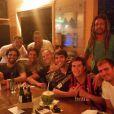 Kaká participou de um evento gastronômico na pousada Zé Maria, em Fernando de Noronha