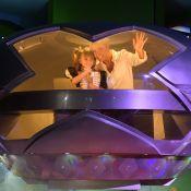 Xuxa volta aos velhos tempos e chega de nave espacial em festa de sobrinha-neta