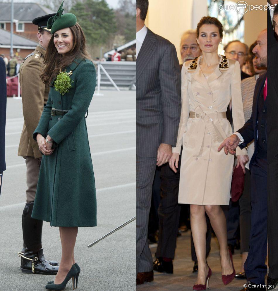 cf4011ff6 Kate Middleton e rainha Letizia Ortiz travam batalha real de looks ...