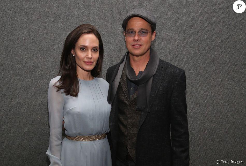Angelina Jolie e Brad Pitt mantém relação amigável, assegura fonte à revista 'People' nesta quarta-feira, dia 07 de fevereiro de 2018