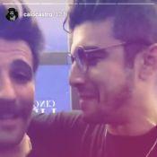 Caio Castro zoa Bruno Gagliasso em pré-estreia de '50 Tons': 'Veio pegar dicas'
