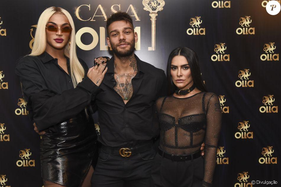 Cleo Pires integra a Liga da Pegação da Olla com Pabllo Vittar e Lucas Lucco
