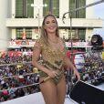 Claudia Leitte se emocionou ao comandar a abertura do Carnaval de Salvador