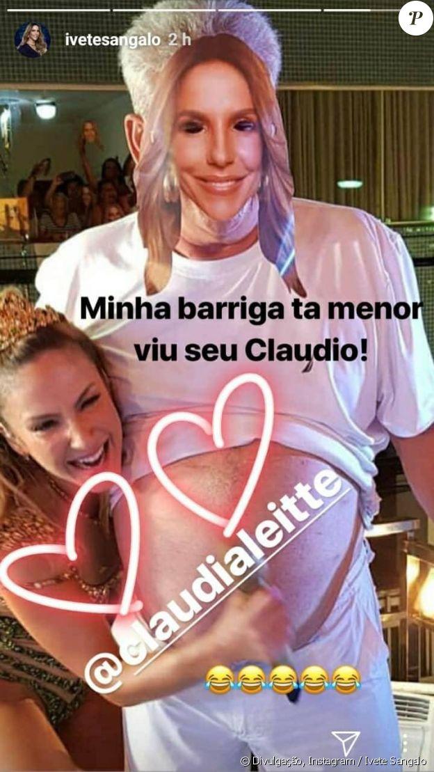 Ivete Sangalo se divertiu com a homenagem feita por Claudia Leitte no trio elétrico