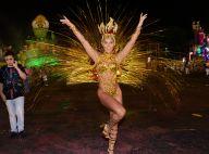 Rosas de Ouro: destaque, Thais Bianca usa costeiro de 15kg: 'Tudo no lugar'