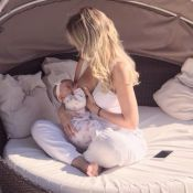 Eliana comemora cinco meses da filha: 'Cada dia mais fofinha com leite materno'