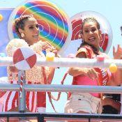 Carla Perez recebe Scheila Carvalho em bloco infantil na Bahia: 'Muito felizes'