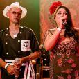Fabiana Karla subiu ao palco do Copacabana Palace com o tradicional bloco Cordão do Bola Preta