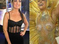 Fátima Bernardes, pedida em casamento por fã, ouve de Sabrina:'Tem que desfilar'