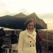 Lilia Cabral aparece caracterizada como a vilã de 'Império' durante gravação