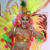 Monique Alfradique vira Carmen Miranda no Carnaval:'Pequena e falo rápido igual'