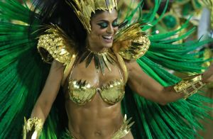 Marido elogia look de Juliana Paes no desfile da Grande Rio: 'Gostei de tudo'