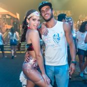 Isabella Santoni festeja Carnaval ao lado do surfista Caio Vaz: 'Veio do Havaí'