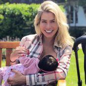Adriana Sant'Anna comemora 1° mês da filha, Linda: 'Doce, perfeita e abençoada'