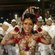 Raíssa Oliveira explicou sua fantasia em desfile da Beija-Flor na madrugada desta terça-feira, 13 de fevereiro de 2018