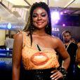 Cris Vianna chegou desacompanhada à Marquês de Sapucaí, no Rio de Janeiro, na noite desta segunda-feira, 12 de janeiro de 2018