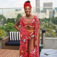 Pela primeira no comando de um bloco no Rio de Janeiro, Ludmilla aposta em look afro para cantar seus maiores hits nesta terça-feira, dia 13 de fevereiro de 2018