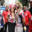 Fátima Bernardes e o namorado, Túlio Gadêlha, se divertem no carnaval do Rio