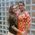 Andréia Sorvetão levou a filha Giovanna para os bastidores de 'Pé na Cova'