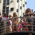 Anitta reuniu diversos artistas em cima do trio do Bloco das Poderosas