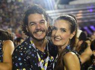 Fátima Bernardes vai com namorado e filhas à Sapucaí: 'Túlio é folião'. Fotos!