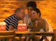 Isis Valverde se diverte com namorado, André Resende, e pai em bar do Rio. Fotos