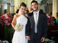'O Outro Lado do Paraíso': Melissa usa vestido clássico em casamento com Diego