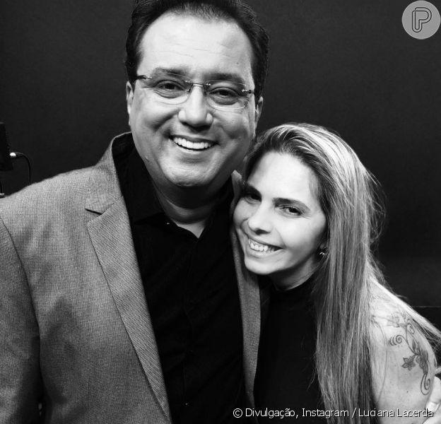 Geraldo Luis parabenizou Luciana Lacerda, ex de Marcelo Rezende, por aniversário no domingo, 25 de fevereiro de 2018