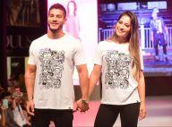 Arthur Aguiar e Mayra Cardi desfilam em evento de moda: 'Dá nervosismo de cair'