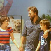 Cássio Reis passeia com Fernanda Vasconcellos e o filho em shopping. Fotos!