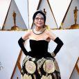 Rita Moreno veste Jose Moreno, mesmo vestido que ela usou na premiação de 1962, na 90ª edição do Oscar, realizada no Teatro Dolby, em Los Angeles, na Califórnia, na noite deste domingo, 4 de março de 2018