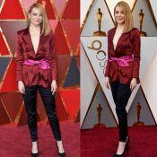Emma Stone surpreende e aposta em blazer e calça para o Oscar 2018. Fotos!