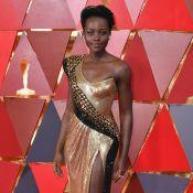 Lupita Nyong'o aposta em look brilhoso com inspiração africana no Oscar 2018