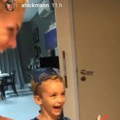 Ana Hickmann faz festa reservada para o filho, Alexandre: 'Menino-gato'. Vídeo!