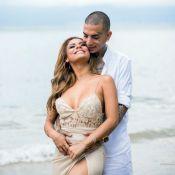 Romance no ar! Lexa e noivo, Guimê, fazem ensaio pré-casamento no litoral de SP