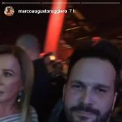 Zilu Camargo leva o namorado, Marco Augusto Ruggiero, a show de Wesley Safadão