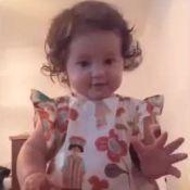 Bruno Gissoni mostra filha de 9 meses em pé e se diverte: 'Sua sapeca'. Vídeo!