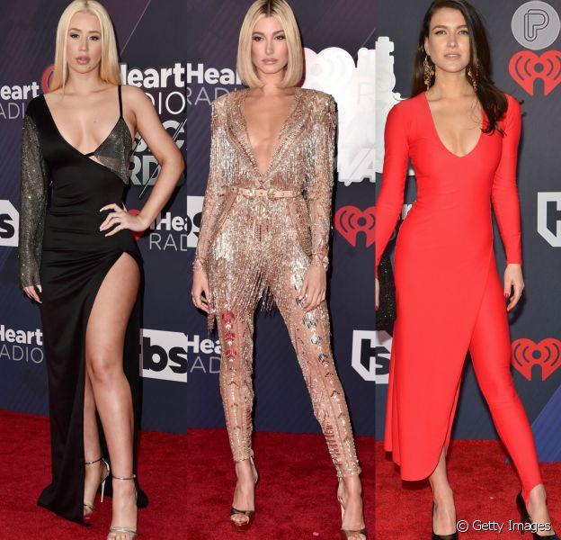 Iggy Azalea, Hailey Baldwin e Nathalia Ramos chamaram atenção com seus looks no iHeartRadio Music Awards 2018