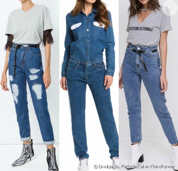 O modelo de calça mom jeans, que tem cintura alta e corte reto, era sensação nos anos 80 e 90!