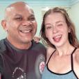 Marina Ruy Barbosa malhou sob  orientação do personal Francisco Veras