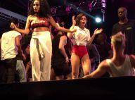 Bruna Marquezine, de barriga de fora, curte show da Anitta do palco. Vídeo!