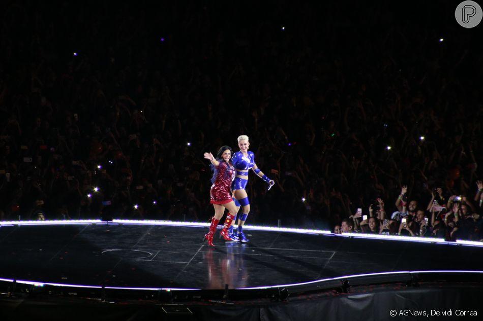 Katy Perry convidou Gretchen para participar de seu show neste sábado, 17 de março de 2018, em São Paulo
