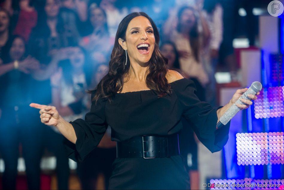 Ivete Sangalo falou sobre a rotina após nascimento gêmeas neste domingo, 18 de março de 2018